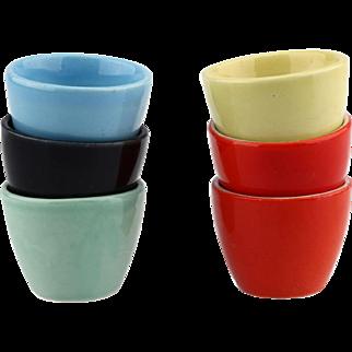 Longchamp French Multi Colored Sake Liquor Thimble Cups