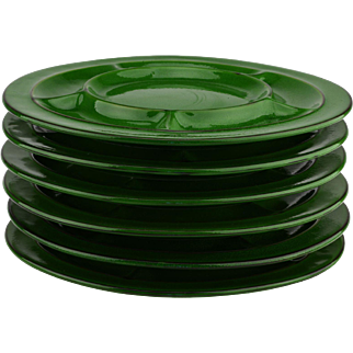 Thomas Flammfest Scandic Shadow Green Fondue Plates