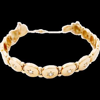 Victorian circle link bracelet