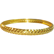Beautiful 22 Karat Yellow Gold Bangle Bracelet