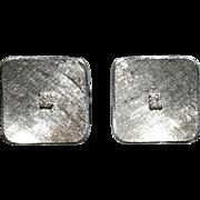 Pair of 14 Karat White Gold Diamond Cufflinks