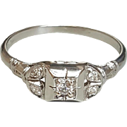 18 Karat White Gold Diamond Ring. Free U.S. Shipping. International Shipping Charges May Vary.