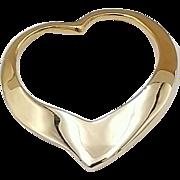 Hallmarked 14 Karat Yellow Gold Heart Pendant
