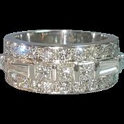 Hallmarked Platinum Fine Quality Diamond Statement Ring Engagement or Wedding Ring
