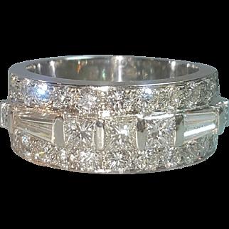 Hallmarked Platinum Diamond Ring