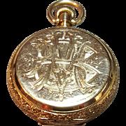 14 Karat Yellow Gold Waltham Pocket Watch