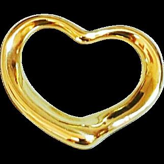 18 Karat Yellow Gold Tiffany and Co Heart Pendant
