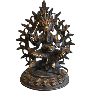 Antique Bronze Statue of Ganesh, Early 19th Century