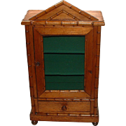 Faux Bamboo French Doll Linen Cabinet with Key!