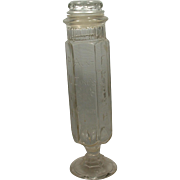 Aunt Jane's Candy Treats Apothecary Glass Jar Antique 1902 Wilson Grove Kansas 2 Qts Country Store