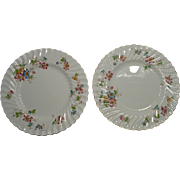 FOUR Minton Porcelain Bone China Dinner Plates in the VERMONT Pattern