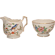 Vintage AYNSLEY PEMBROKE Creamer and Open Sugar