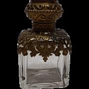 19th Century French Palais Royal Grand Tour Souvenir Scent Bottle with Eglomise Top of Paris Site