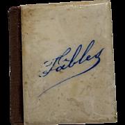 Petit Fabuliste FABLES Miniature Book 19th Century France