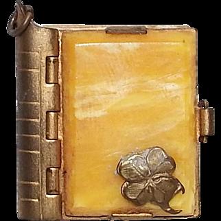 Vintage Miniature Postcard Album Souvenir Charm from Spain with Bakelite
