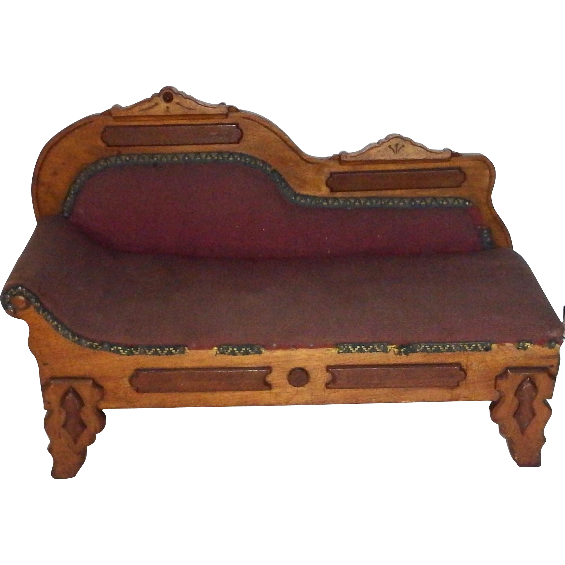 Antique Victorian Fainting Couch Recaimer Salesman Sample Or For From  Mollys-antique-doll--and--toy-menagerie On Ruby Lane