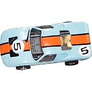 Slot Car Aurora HO Scale Ford GT Blue