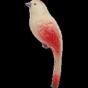 Vintage Celluloid Bird Baby Rattle