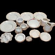 Dollhouse Toy Assorted Porcelain Plates, Pitcher, Bowls