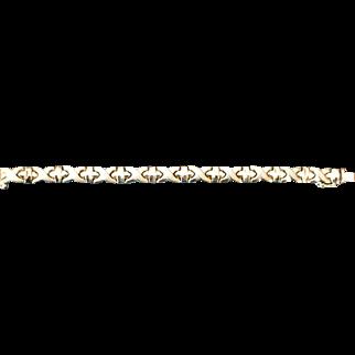 14KT Vintage Yellow Gold XO Bracelet 11.2 Grams