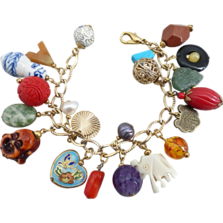 Eclectic Asian/Chinese Charm Bracelet