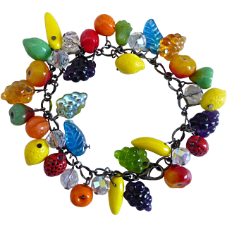 Glass Fruit Salad Artisan Bracelet