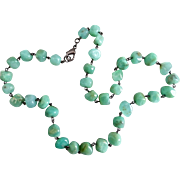 """Chrysoprase Nuggets Necklace, 19.5"""""""