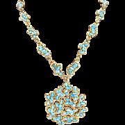 Vintage Swoboda Signed Pendant Necklace