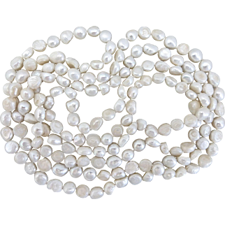 Long Freshwater Pearl Necklace, 60 Inches