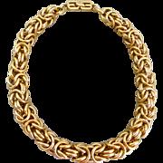 Vintage Givenchy Byzantine Chain Gold Tone Necklace