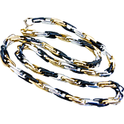 Long Lightweight Mixed Metal Colors,  Aluminum Chain Necklace, 45""