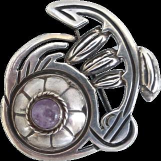 Rafael Melendez Sterling Silver Vintage Taxco Brooch