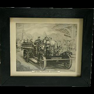 Modern Firefighting Apparatus' prints 1915 & 1921
