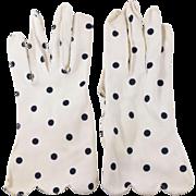 Vintage Polka Dot Gloves