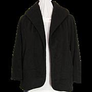 Vintage Capri Juniors Cashmere Open Front Black Jacket