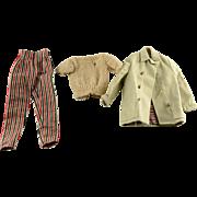 Vintage 1960s Barbie Open Road Outfit Set (1961-1962) #985