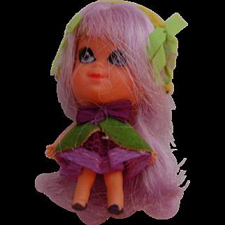 Vintage Mattel Violet Liddle Kiddle Doll - Kologne Collection #3703