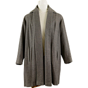 Vintage Gray/Grey Robinson's California Tibetan Cashmere Swing Coat