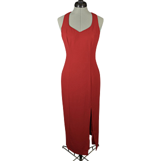 Vintage Red Rampage Cocktail Dress with Sequins