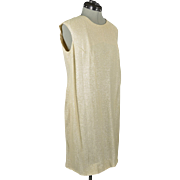 Vintage Beige Charlotta of California Sleeveless Silver Sparkle Dress