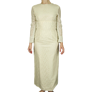 Vintage White Custom Made Lace Long Sleeved Wedding Dress