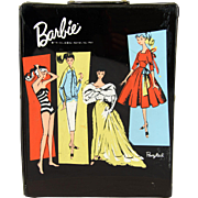 Vintage 1961 Barbie Doll Black Ponytail Wardrobe Carrying Case