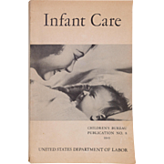 Vintage Infant Care, Baby Health Booklet from United States Department of Labor, 1945 - Red Tag Sale Item