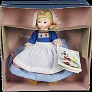 Vintage Madame Alexander Netherlands Dutch Doll, New in Original Box