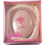 Vintage RARE 1958 Barbie Bath 'N Shower  Soap on a Rope by Lander and Mattel NEW in PACKAGE