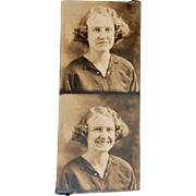 Vintage 1930s Female Photo Booth Photo Strip