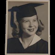 Vintage Blonde Female Graduation Photograph