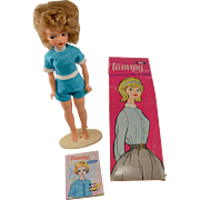 Vintage 1962 Ideal Tammy Doll with Outfit, Box, Stand and Style Book Pamphlet #9000-1