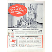 Tavern Home Products Housekeeping WWII Advertisement