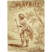 Vintage RARE 1944 Broadway Show Playbill from Plymouth Theatre